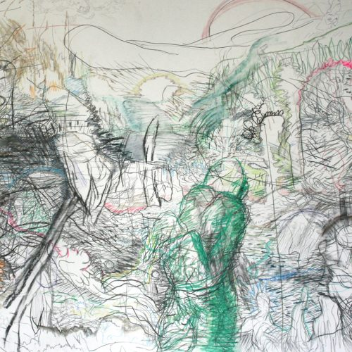 archive 'the journey' pencil, crayon, charcoal on paper 100 x 120 cm 2009